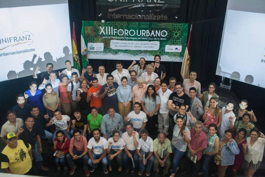 XIII Foro Urbano se realizó en la Unifranz