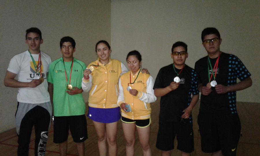XI Juegos Deportivos Universitarios AMDULP 2016. Medalla de Plata en Raquetbol