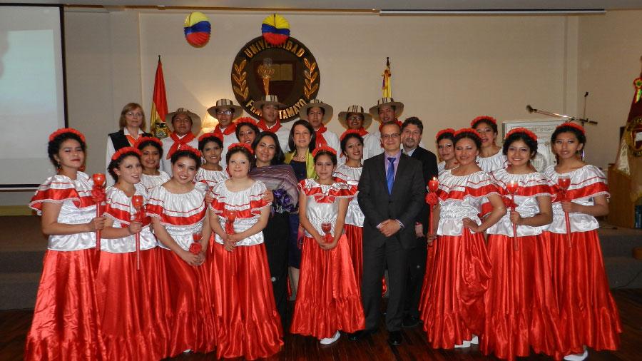 Muestra Cultural Unifranz 2016. País Invitado Colombia